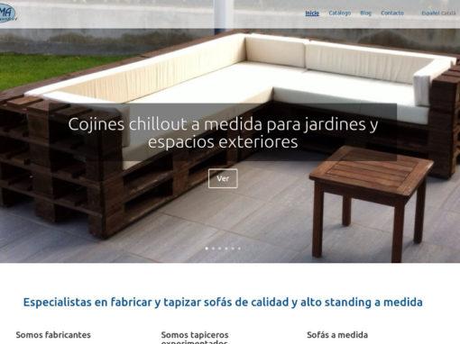 Web per a empresa de confort amb catàleg