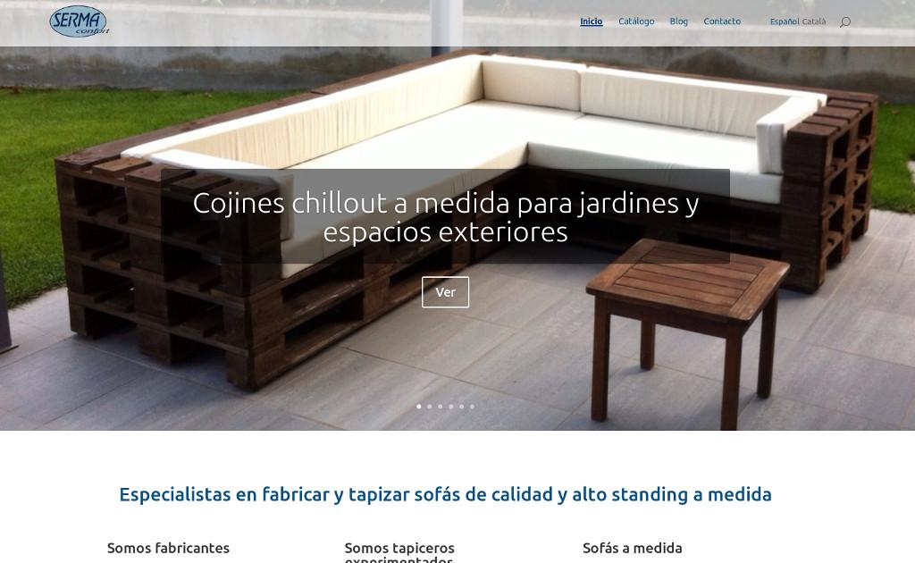 Catálogo de productos online web para empresa de confort