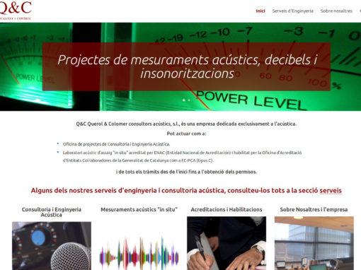 Web corporativa per a empresa consultora d'acústica