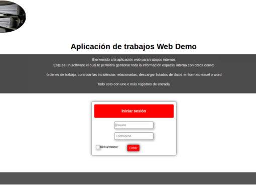 Aplicació de gestió d'ordres de treball i documents
