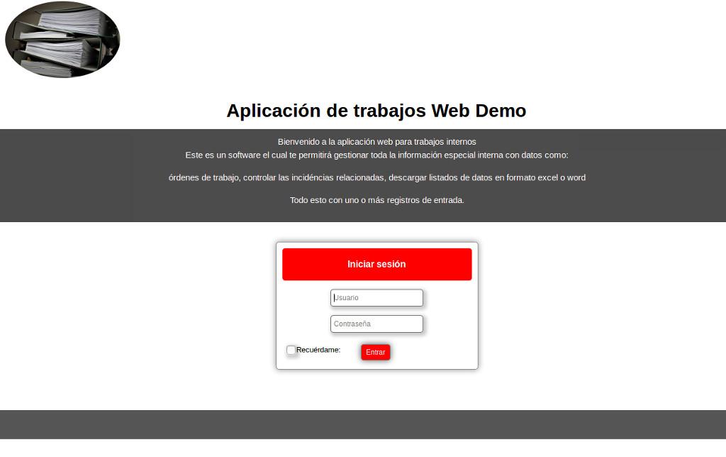 Aplicación de gestión de órdenes de trabajo y documentos