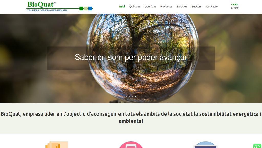 Web corporativa per a empresa de consultoria energètica