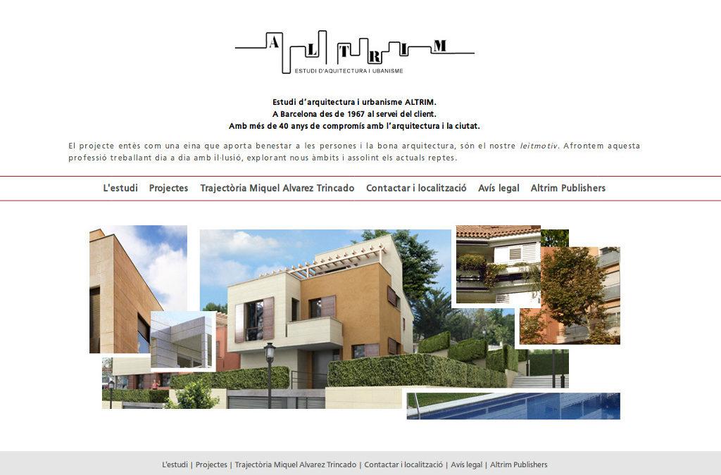 Web corporativa per a empresa d'arquitectura i urbanisme
