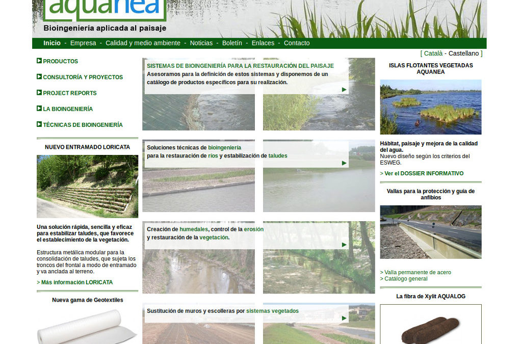 Web corporativa para empresa de bioingeniería de paisajes