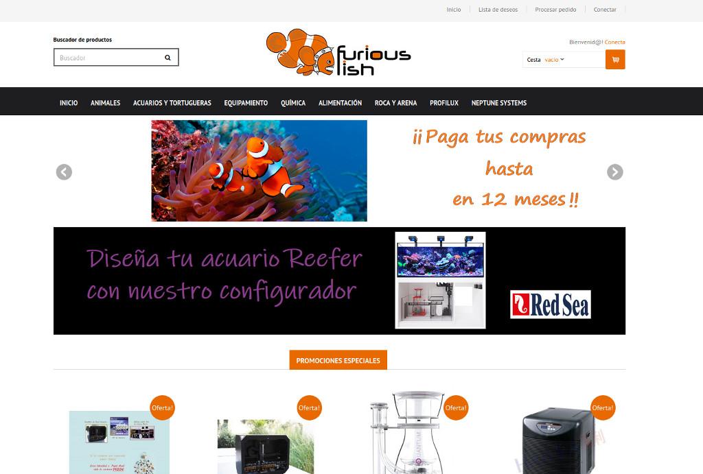 web ecommerce online tienda animales