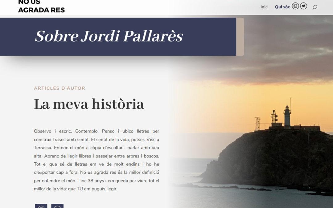 Web-blog d'escriptor Jordi Pallarès